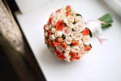 för central gifta sig för ro för punkt dof-blomma för bukett fokal- lågt Arkivfoton