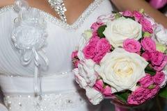 för central gifta sig för ro för punkt dof-blomma för bukett fokal- lågt Royaltyfria Bilder