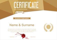 För certifikat eller retro designmall för diplom Fotografering för Bildbyråer