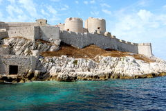 ` För Chateau D om, Marseille Frankrike royaltyfri foto