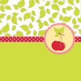 för Cherryhälsningar för blankt kort mall vektor illustrationer