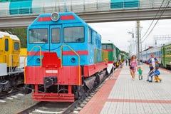 För ChME 2 för diesel- lokomotiv Czechoslovak shunting diesel- locomo — Royaltyfri Fotografi