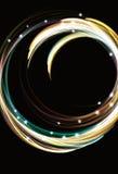 för cirkeleffekt för abstrakt bakgrund oskarp lampa Arkivbilder