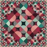 För cirkelfärg för abstrakt vektor sömlös geometrisk fyrkantig modell Arkivfoton