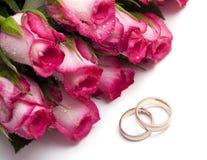 för cirkelro för liten droppe rosa gifta sig Arkivbilder