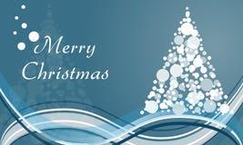 För cirkelträd för glad jul bakgrund Royaltyfria Bilder