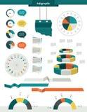 För cirkeluppsättning för information grafiska beståndsdelar Royaltyfria Bilder