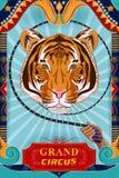 För cirkusparti för tappning retro design för affisch för baner stock illustrationer