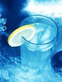 för citronskiva för 2 exponeringsglas vatten Royaltyfria Foton
