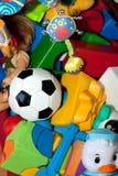 för closeup toys mycket Royaltyfri Foto