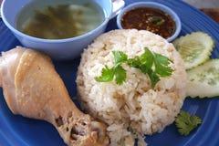för closeuphainan för asiat feg stil rice Fotografering för Bildbyråer