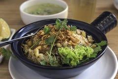 för closeuphainan för asiat feg stil rice Arkivfoton