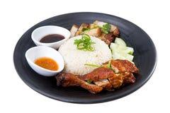 för closeuphainan för asiat feg stil rice arkivfoto