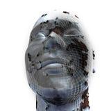 för closeuphuvud för bakgrund 3d white Fotografering för Bildbyråer