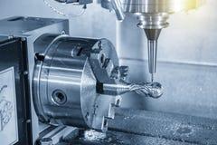 För CNC-malning för 4 axel klippet för maskin prövkopiadelarna med bollendmillhjälpmedel royaltyfria bilder