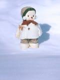 för cold snowman ut Royaltyfri Foto
