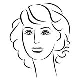 för convertflicka för skönhet rå bättre kvalitet Härlig kvinnaframsida för mode färgpulver Royaltyfri Bild