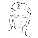 för convertflicka för skönhet rå bättre kvalitet Härlig kvinnaframsida för mode färgpulver Royaltyfri Foto