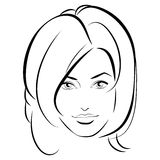 för convertflicka för skönhet rå bättre kvalitet Härlig kvinnaframsida för mode färgpulver Fotografering för Bildbyråer