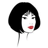 för convertflicka för skönhet rå bättre kvalitet Härlig kvinnaframsida för mode färgpulver Royaltyfria Bilder