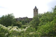 by för coscojuelapyrenees torn Royaltyfri Fotografi
