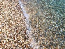 för crimea för strand ljust ukraine pebble vatten Arkivfoton