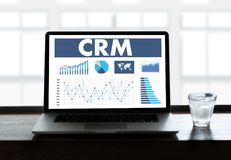 För CRM för affärskund rätta för begrepp för service för analys ledning Royaltyfria Bilder