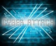 För Cyberhacka för Cyberattack ondsint illustration för attack 3d Royaltyfria Foton