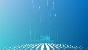 För cyberströmkrets för vektor abstrakt bakgrund för torn Royaltyfria Foton
