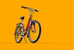 för cykelberg för bakgrund 3d orange royaltyfri illustrationer