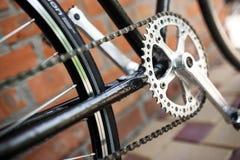 För cykelnärbild för klassisk väg retro foto royaltyfria bilder