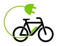 För cykeluppladdning för illustration e station stock illustrationer