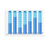 För cylinderdiagram för vektor 3d graf för blått för diagram Arkivfoton