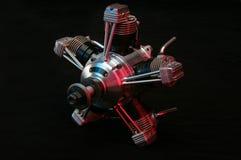för cylindermotor för 5 flygplan modell Arkivfoto