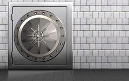 för dörrmetall för valv 3d kassaskåp Arkivfoton