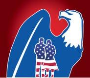 för dagörn för 4 medborgare självständighet juli vektor illustrationer