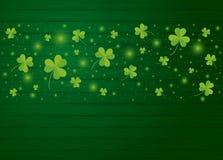 För dagbakgrund för St Patricks design av växt av släktet Trifoliumsidor stock illustrationer