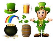 För dagbeståndsdelar för St Patricks samling stock illustrationer
