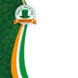 För dagemblem för St Patricks treklöverer för räkning avlånga Royaltyfri Bild