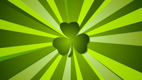 För daggräsplan för St Patricks strålar gör sammandrag den videopd animeringen royaltyfri illustrationer