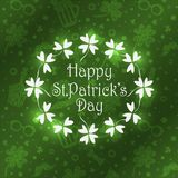 För daghälsning för St Patricks bakgrund för kort stock illustrationer