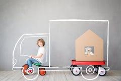 För daghus för barn nytt hem- rörande begrepp arkivfoto
