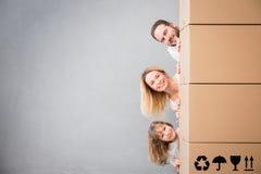 För daghus för familj nytt hem- rörande begrepp royaltyfri foto