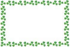 För dagtreklöver för St Patricks ram Arkivfoton