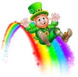 För dagtroll för St Patricks glidbana för regnbåge stock illustrationer