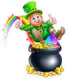 För dagtroll för St Patricks kruka av guldregnbågen royaltyfri illustrationer