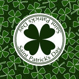 För dagvektor för St Patricks design för räkning för kort för hälsning Arkivfoto