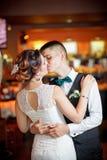 för dansmodell för abstrakt begrepp 3d bröllop Royaltyfri Foto