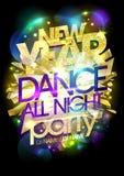 För dansparti för nytt år begrepp för design, kopieringsutrymme för text, ljusa modekristaller royaltyfri illustrationer