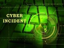 För dataattack för Cyber infallande illustration för varning 3d vektor illustrationer